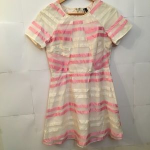 Topshop Pink and White Stripe Dress